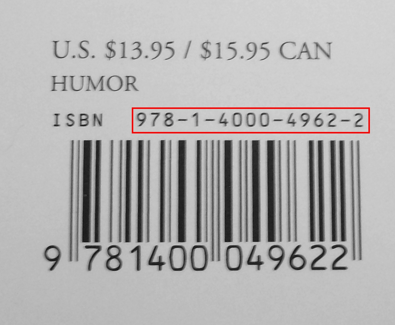 Book Barcode With Price